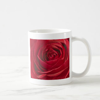 Vivid Red Rose Center Full Frame Macro Photograph Coffee Mug