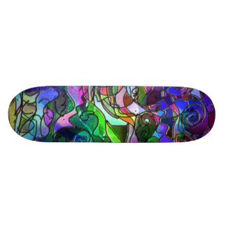 Vivid, Rich Colors: Like Stained Glass Skateboard Deck