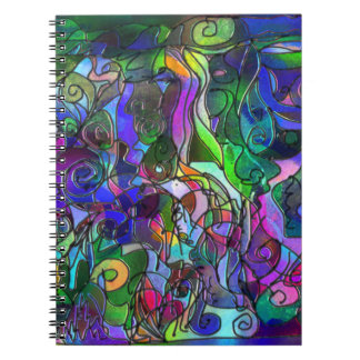 Vivid, Rich Colors: Like Stained Glass Spiral Notebook