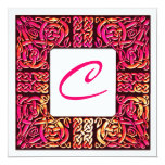 Vivid Rose Celtic Knotwork Wedding Invitation