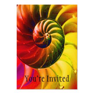 Vivid Seashell Swirly In Techno Color Card