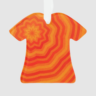 Vivid Shades of Orange Striped Flower Design
