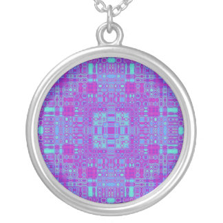 Vivid Squares Silver Plated Necklace