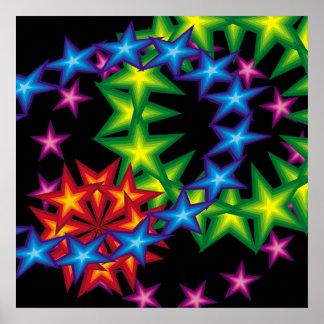 vivid star circles poster