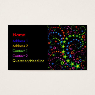 vivid star composition business card
