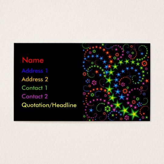 vivid star composition business card