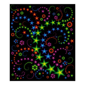 vivid star composition poster