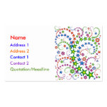 vivid star composition_white Double-Sided standard business cards (Pack of 100)