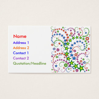 vivid star composition_white business card