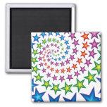 vivid star spirals 2 inch square magnet