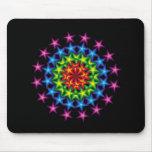 vivid stars circles mouse pad