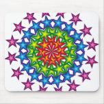 vivid stars circles mouse pads