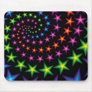 vivid stars composition mouse mat