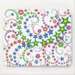 vivid stars composition mouse mats