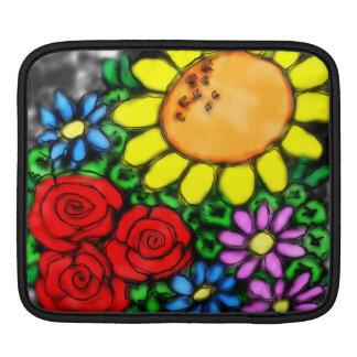 Vivid Sunflower & Roses Watercolor Garden Sleeve For iPads