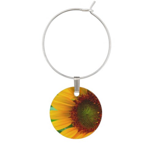 Vivid Sunflower Wine Charm