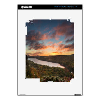 Vivid Sunrise Over Lake Of The Clouds In Autumn iPad 3 Decals