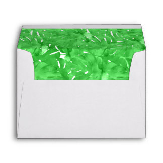 Vivid Tropical Green Wedding Envelope
