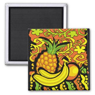 vivid tropical still life 2 inch square magnet