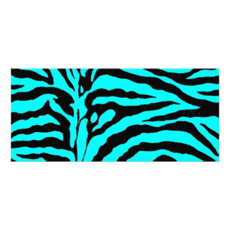 Vivid Turquoise Zebra Stripe Rack Card