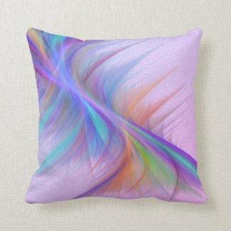 Vivid Vibrations Throw Pillow