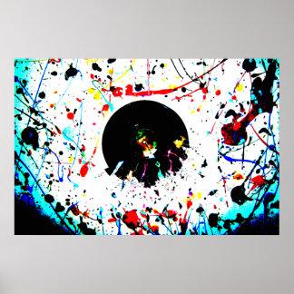 Vivid Vinyl Artistic Poster