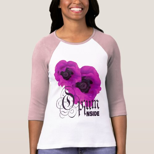 Vivid Violet Poppy Opium Inside T_Shirt