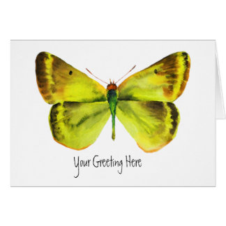Vivid Watercolor Butterfly Painting Greeting Cards
