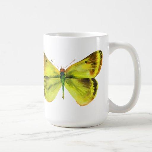 Vivid Watercolor Butterfly Painting Coffee Mug