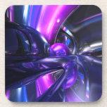 Vivid Waves Abstract Drink Coasters