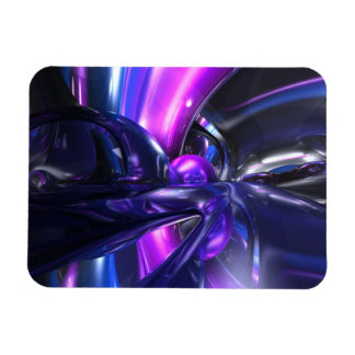 Vivid Waves Abstract Large Magnet