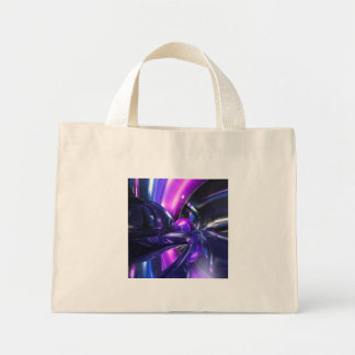 Vivid Waves Abstract Mini Tote Bag