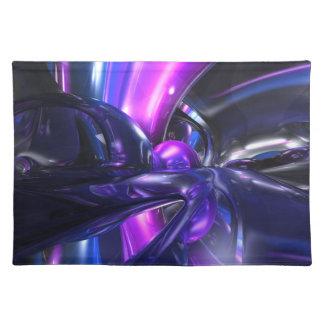 Vivid Waves Abstract Placemats