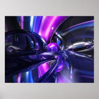 Vivid Waves Abstract Poster