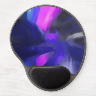 Vivid Waves Pastel Abstract Gel Mouse Pad