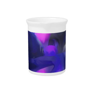 Vivid Waves Pastel Abstract Beverage Pitchers