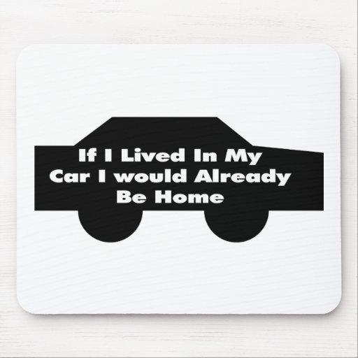 Vivido en mi coche tapete de ratones