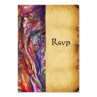 VIVIEN AND MERLIN 3.5X5 PAPER INVITATION CARD