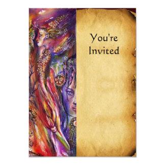 VIVIEN AND MERLIN 4.5X6.25 PAPER INVITATION CARD