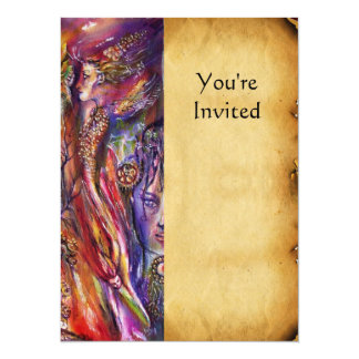 VIVIEN AND MERLIN 5.5X7.5 PAPER INVITATION CARD