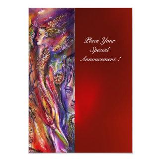 VIVIEN AND MERLIN 5X7 PAPER INVITATION CARD