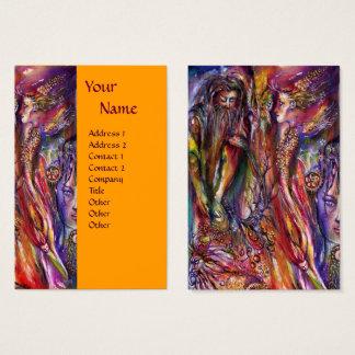 VIVIEN AND MERLIN Blue Purple Orange Fantasy Business Card
