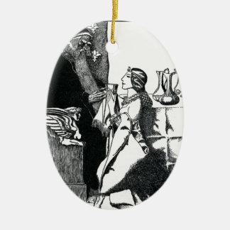 Vivien and Merlin Ceramic Ornament