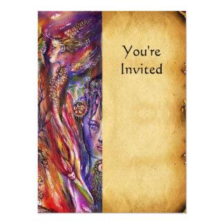 VIVIEN AND MERLIN 5.5X7.5 PAPER INVITATION CARD