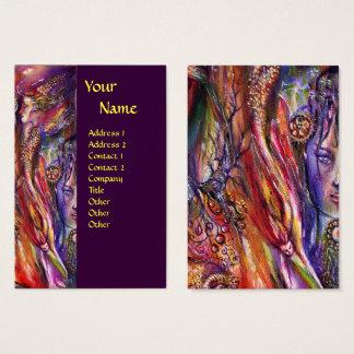 VIVIEN AND MERLIN Pink Blue Purple Fantasy Business Card
