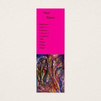 VIVIEN AND MERLIN Pink Fuchsia Purple Fantasy Mini Business Card