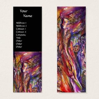 VIVIEN AND MERLIN Pink Purple Black Fantasy Mini Business Card