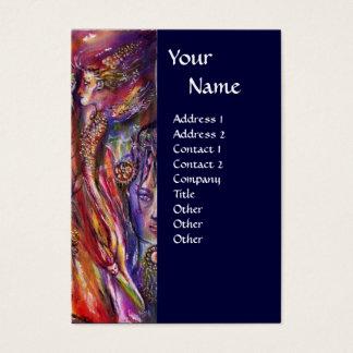 VIVIEN AND MERLIN Pink Purple Blue Fantasy Business Card