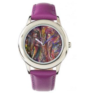 VIVIEN AND MERLIN Pink Purple Fantasy Watch
