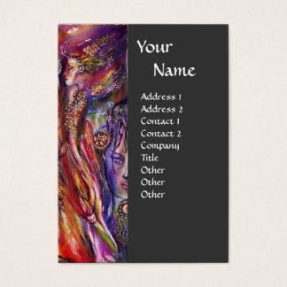 VIVIEN AND MERLIN Pink Purple Grey Fantasy Business Card